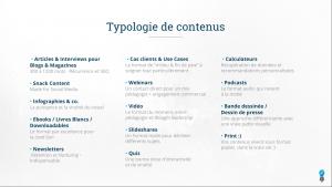 typologie de contnus