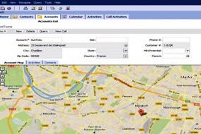 comment intégrer une carte Google Map à Siebel CRM