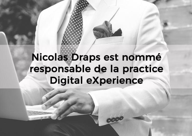 Nicolas Draps est nommé responsable de la practice Digital eXperience